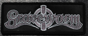 """Graveworm Grey Logo 5x2"""" Embroidered Patch"""