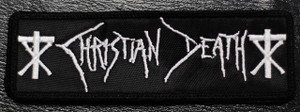 """Christian Death Logo 5x1"""" Embroidered Patch"""