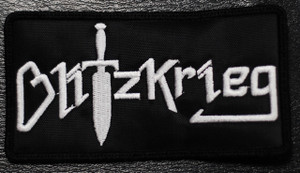 """Blitzkrieg Logo 4.5x2.5"""" Embroidered Patch"""