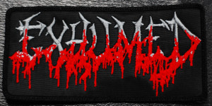 """Exhumed Logo 4x2.5"""" Embroidered Patch"""