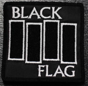 """Black Flag Flag Logo 3x3"""" Embroidered Patch"""