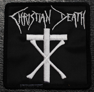 """Christian Death Square Logo 3x3"""" Embroidered Patch"""