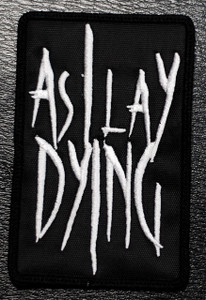 """As I Lay Dying Logo 2.5x4"""" Embroidered Patch"""