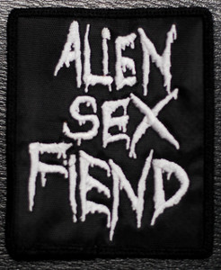 "Alien Sex Fiend Logo 3x4"" Embroidered Patch"