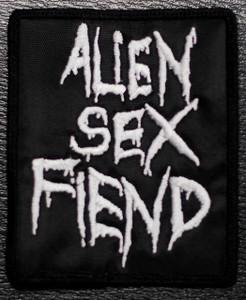 "Alien Sex Fiend Logo 3x4"" Embroidered Patch"