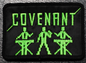 """Covenant Green Buddies 4x2"""" Embroidered Patch"""