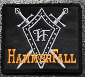 """HammerFall Swords 4x3"""" Embroidered Patch"""