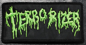 """Terrorizer Green Logo 5x2"""" Embroidered Patch"""
