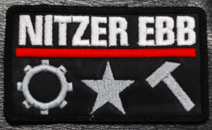 """Nitzer Ebb Body Works 4x2"""" Embroidered Patch"""
