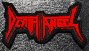 """Death Angel Red Logo 4x2"""" Embroidered Patch"""