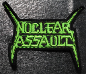 """Nuclear Assault Green Logo 5x4"""" Embroidered Patch"""