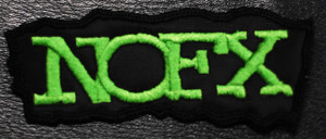 """NoFx Green Logo 5x1.5"""" Embroidered Patch"""