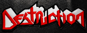 """Destruction Red Logo 6x2"""" Embroidered Patch"""