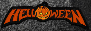 """Helloween Red Logo 5x1.5"""" Embroidered Patch"""