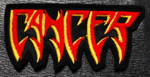 """Cancer Red Logo 4.5x2"""" Embroidered Patch"""