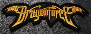 """DragonForce - Gold Logo 5.5x1.5"""" Embroidered Patch"""