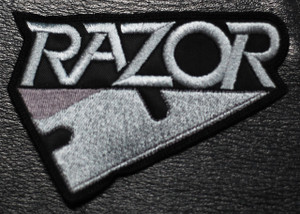 "Razor Razor 4x2.5"" Embroidered Patch"