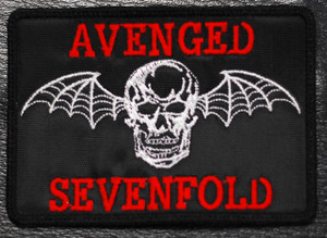 """Avenged Sevenfold Skull Logo 4x2.5"""" Embroidered"""