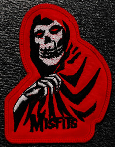 """Misfits Red Crimson Ghost 2.5x4"""" Embroidered Patch"""
