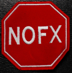 """NoFx Stop Sign Logo 4x4"""" Embroidered Patch"""