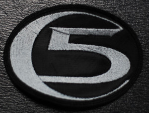 """Colony 5 Shaped Grey Logo 4x3"""" Embroidered Patch"""