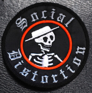 """Social Distortion Skelly Logo 3x3"""" Embroidered"""