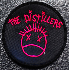 """The Distillers Pink Logo 3x3"""" Embroidered Patch"""