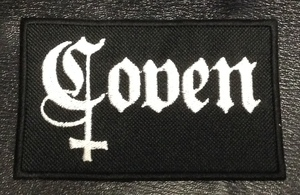 """Coven Black 4x2.5"""" Embroidered Patch"""