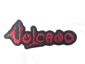 """Vulcano Red Logo 4x1.5"""" Embroidered Patch"""