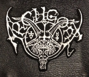 """Archgoat Shaped Logo 4x3"""" Embroidered Patch"""
