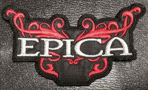 """Epica Red/Grey Tribal Logo 5x3"""" Embroidered Patch"""