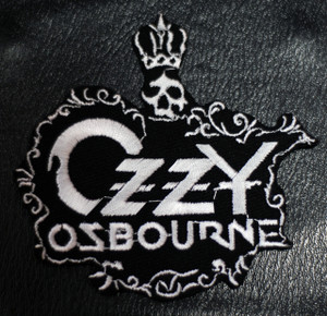 "Ozzy Osbourne Crown Logo 4.2x4"" Embroidered Patch"