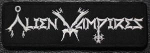 "Alien Vampires Written Logo 5x1.5"" Embroidered Patch"