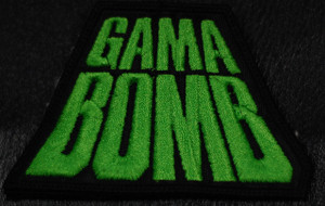 """Gama Bomb Green Logo 4x3"""" Embroidered Patch"""