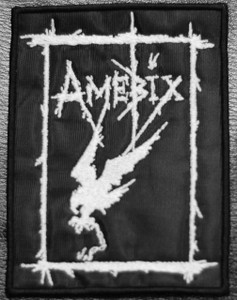 "Amebix Crow 4x5"" Embroidered Patch Skull"
