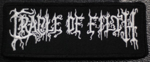 """Cradle of Filth Logo 4.5x2"""" Embroidered Patch"""