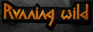 """Running Wild Gold Logo 5x1.5"""" Embroidered Patch"""