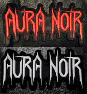 """Aura Noir Shaped Logo 5x3"""" Embroidered Patch"""