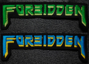 "Forbidden Logo 5.5x1.5"" Embroidered Patch"