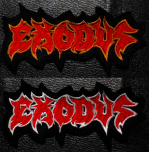"Exodus Shaped Logo 4.2  x2"" Embroidered Patch"