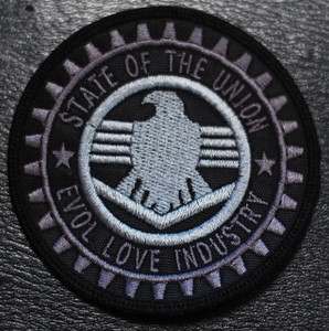 """State of the Union Evol Love Industry 3x3"""" Embroidered Patch"""