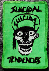"Suicidal Tendencies Green Skull 3x5"" Embroidered Patch"
