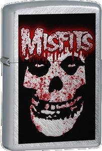 Misfits - Blood Splattered Ghoul Chrome Lighter Post Punk