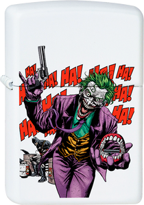 Joker - Killing Joke White Lighter Comics Batman Harley Villain