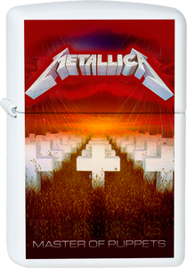 Metallica - Master of Puppets White Lighter