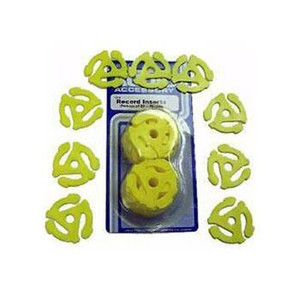 "Package of 10 Yellow 45rpm plastic center adaptor for 7"" Ep´s"