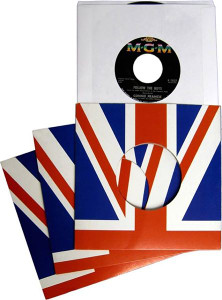 "7"" Records British flag Jacket package"