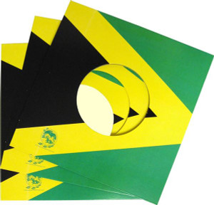 "7"" Record Jamaican flag Jacket 5 package"
