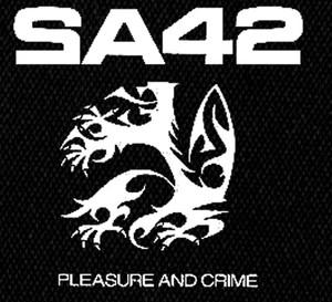 "SA42 Pleasure and Crime 4x4"" Printed Patch"