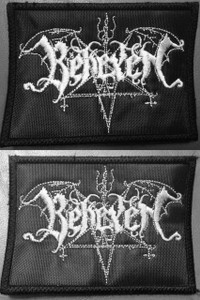 """Behexen Shaped Logo 4x3"""" Embroidered Patch"""